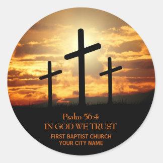 Autocollant de vers de bible de trois croix
