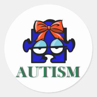 Autocollant de visage d'autisme