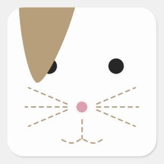 Autocollant de visage de lapin