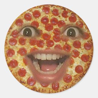 Autocollant de visage de pizza