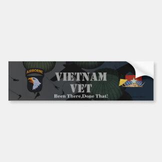 Autocollant De Voiture 101st adhésif pour pare-chocs du Vietnam de