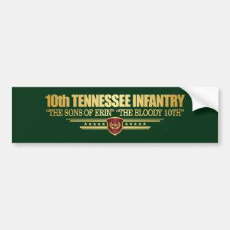Autocollant De Voiture 10ème Infanterie du Tennessee