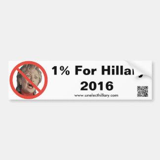 Autocollant De Voiture 1% pour Hillary 2016