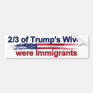 Autocollant De Voiture 2/3 des épouses de l'atout étaient des immigrés