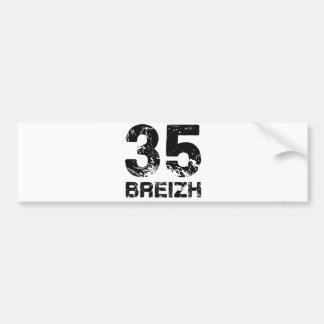 Autocollant De Voiture 35 Breizh