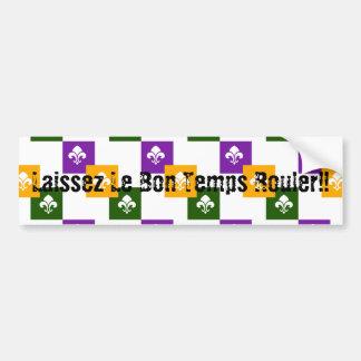 Autocollant De Voiture 3 boîtes colorées w/Fleur de Lis de mardi gras