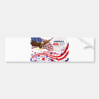 Autocollant De Voiture 4 juillet Jour de la Déclaration d'Indépendance