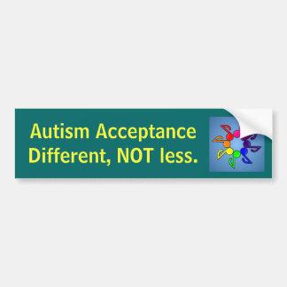 Autocollant De Voiture Acceptation d'autisme différente, PAS moins
