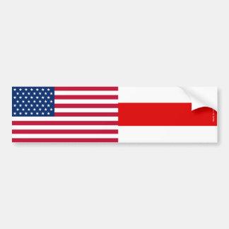 Autocollant De Voiture Adhésif pour pare-chocs américain et biélorusse de