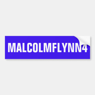 AUTOCOLLANT DE VOITURE ADHÉSIF POUR PARE-CHOCS BLEU AVEC MALCOLMFLYNN4