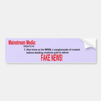 Autocollant De Voiture Adhésif pour pare-chocs d'adjectif de médias de