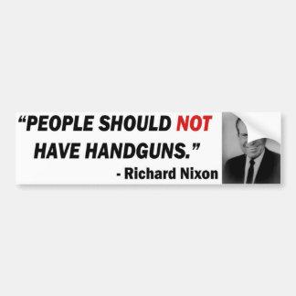 Autocollant De Voiture Adhésif pour pare-chocs d'Anti-Arme à feu de Nixon