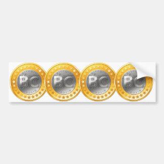 Autocollant De Voiture Adhésif pour pare-chocs de Bitcoin