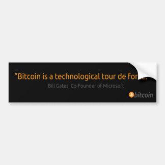 Autocollant De Voiture Adhésif pour pare-chocs de bitcoin de Bill Gates