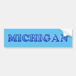 Autocollant De Voiture Adhésif pour pare-chocs de bleu du Michigan