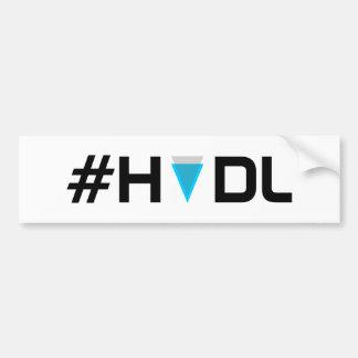 Autocollant De Voiture Adhésif pour pare-chocs de bord de #HODL