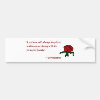 Autocollant De Voiture Adhésif pour pare-chocs de citation de rose rouge