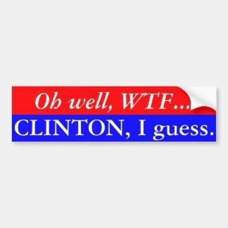 Autocollant De Voiture Adhésif pour pare-chocs de conjecture de Clinton I