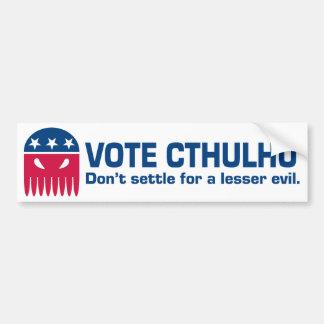 Autocollant De Voiture Adhésif pour pare-chocs de Cthulhu de vote