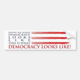 Autocollant De Voiture Adhésif pour pare-chocs de démocratie