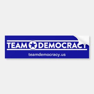 Autocollant De Voiture Adhésif pour pare-chocs de démocratie d'équipe -