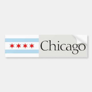 Autocollant De Voiture Adhésif pour pare-chocs de drapeau de Chicago