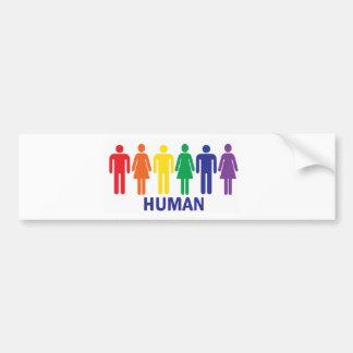 AUTOCOLLANT DE VOITURE ADHÉSIF POUR PARE-CHOCS DE DROITS DES HOMOSEXUELS
