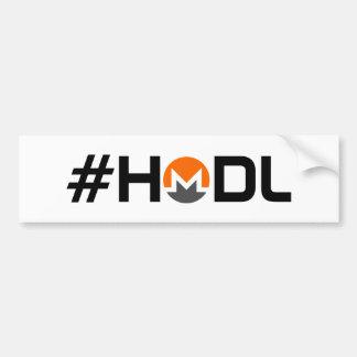 Autocollant De Voiture Adhésif pour pare-chocs de Hodl Monero XMR