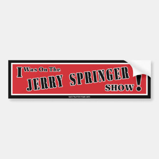 Autocollant De Voiture Adhésif pour pare-chocs de Jerry Springer