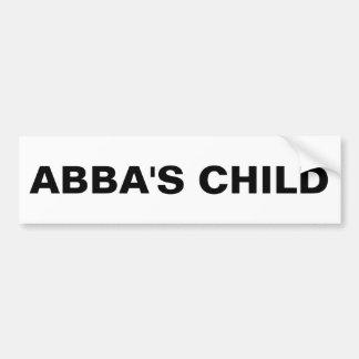 """Autocollant De Voiture Adhésif pour pare-chocs """"de l'enfant d'Abba"""""""