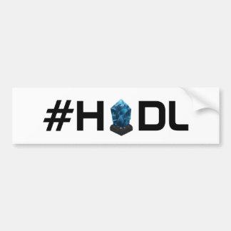 Autocollant De Voiture Adhésif pour pare-chocs de Lisk LSK de #HODL