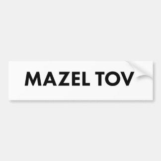 Autocollant De Voiture Adhésif pour pare-chocs de Mazel Tov
