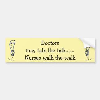 Autocollant De Voiture Adhésif pour pare-chocs de promenade d'infirmières