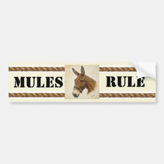 Autocollant De Voiture Adhésif pour pare-chocs de règle de mules