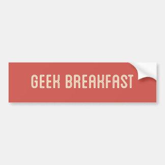 Autocollant De Voiture Adhésif pour pare-chocs de rouge de petit déjeuner