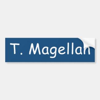 Autocollant De Voiture Adhésif pour pare-chocs de T. Magellan