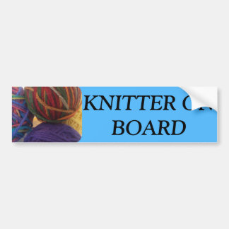 Autocollant De Voiture Adhésif pour pare-chocs de tricoteuse à bord
