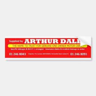 Autocollant De Voiture Adhésif pour pare-chocs de voiture d'Arthur Daley