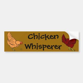 Autocollant De Voiture Adhésif pour pare-chocs de Whisperer de poulet