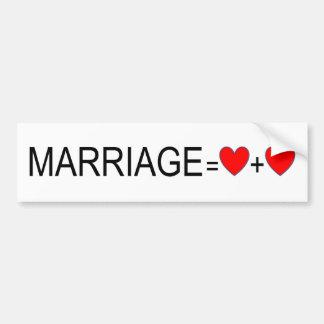 Autocollant De Voiture Adhésif pour pare-chocs d'égalité de mariage