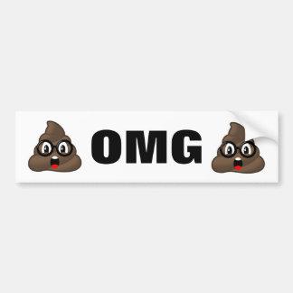Autocollant De Voiture Adhésif pour pare-chocs d'Emoji de dunette d'OMG
