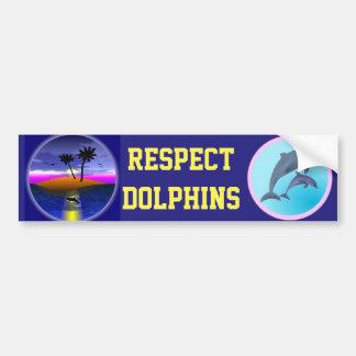 Autocollant De Voiture Adhésif pour pare-chocs d'île de dauphin