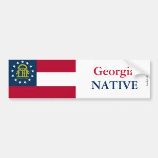 Autocollant De Voiture Adhésif pour pare-chocs d'indigène de la Géorgie