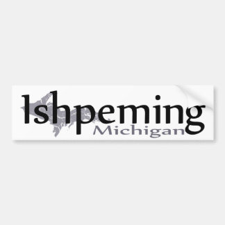 Autocollant De Voiture Adhésif pour pare-chocs d'Ishpeming Michigan