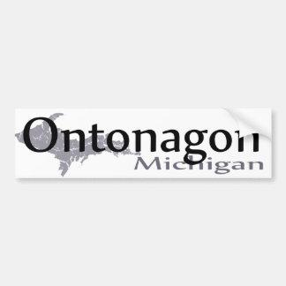 Autocollant De Voiture Adhésif pour pare-chocs d'Ontonagon Michigan