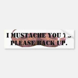 Autocollant De Voiture Adhésif pour pare-chocs drôle de moustache