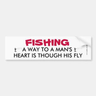 Autocollant De Voiture Adhésif pour pare-chocs drôle de pêche