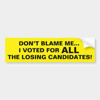 Autocollant De Voiture Adhésif pour pare-chocs drôle : Voté pour les