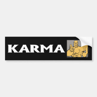 Autocollant De Voiture Adhésif pour pare-chocs du combattant 1 de karma