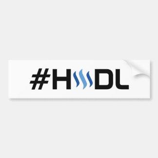 Autocollant De Voiture Adhésif pour pare-chocs du #HODL STEEM